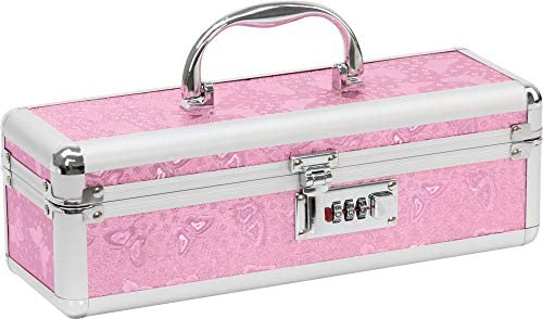 Pure Love Adult Toy Box, Lockable Storage Case, Vibe Case, Vibrator Chest, Pink