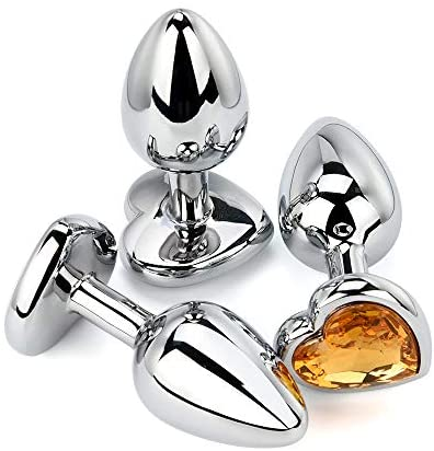 3 Pcs Crystal Stainless Steel Bûtt Pl'ug Beads Jeweled Back for Women