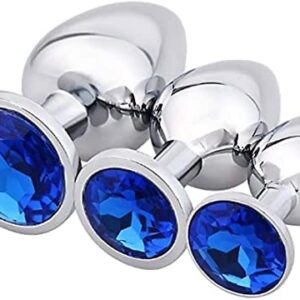 3-Piece/Set Crystal Diamond Smooth Ḅûţţ P'lúgs Àṇâl Bead P`lûg Beginner Set Luxury Exquisite Design for Man and Women Best Gift Sunglasses Anạle Plụgs Trạiner Kịt Sunglasses DCSCXMKK (Color : Blue)