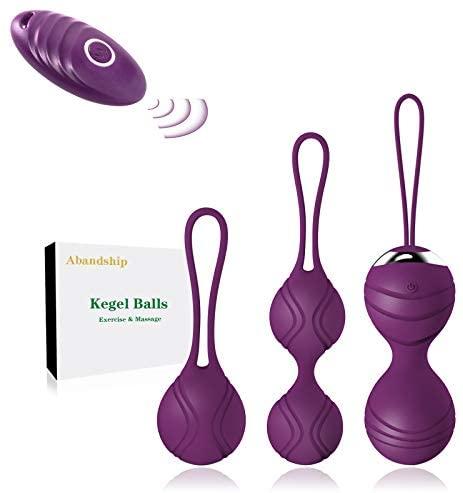 Ben Wa Kegel Balls for Women, Kegel Exercise Products for Incontinence & Bladder Control, Women Pelvic Floor Strengthening Device for Beginners & Advanced Users, 3 Weights Kegel Exerciser