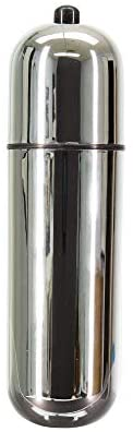 Pure Love Large Size Vibrating Bullet, 6-Inch-Long, Battery Operated Vibrator, Silver Color