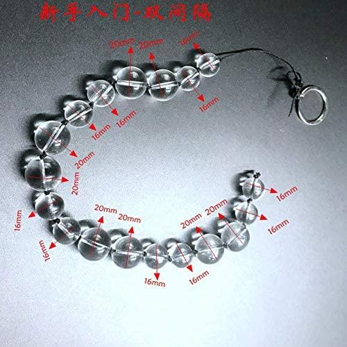 Rabbit sẹx USB Glass Anạl Beads Large Plụg Long Tọys Bụtt Gay er Big Bead-B