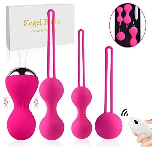 Super Kegel Exercise Weights Ben Wa Ball 5PC Sets for Women Kegel Balls for Beginners & Advanced Pelvic Floor Exercises,Premium Silicone Kegel Balls for Women Tightening