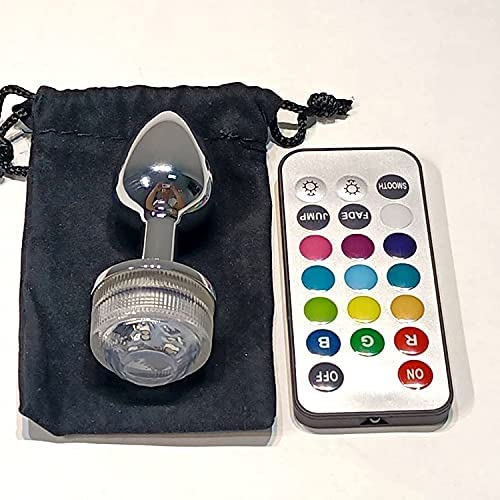 Waterproof Ḅụ-ṭṭ Pl-ụg Stímulátor Prōštātē Māsšágēr LED Lamp Luxury Wēáráble Light Up, Ánál Pl'ugs Trainer Kit for Mẹn Women Couplẹs Ğạy Beginner Forenei (Size : 1)