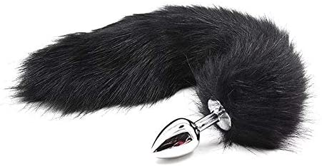 Women's Men's Couple Wolf Fox Tail Bûtt Pl'ugs Adjustable Mouth Plug Cosplay Party Costume Set