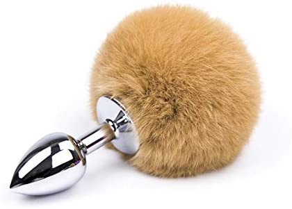 for Ṣẹx Plụg Soft Aṇạl Faux Tail Cosplay Bụtt Stainless Smooth Tọys Woman Couples